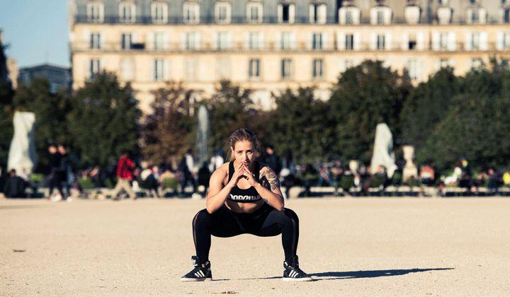 How Victoria's Secret Models Prepare for the Runway Show: Sumo Jump Squats | coveteur.com