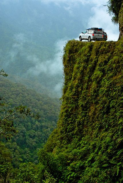 """El Camino de la Muerte, considered """"the world's most dangerous road"""", Bolivia (by The World by Road).: The Roads,  Drop-Off, Danger Roads, South America, Peace, Death Roads, Roads Trips, Bolivia, The Way"""
