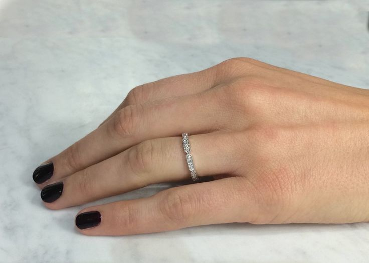 Cushla Whiting Jewellery - DECO wedding band #cushlawhitingrings #weddingbands