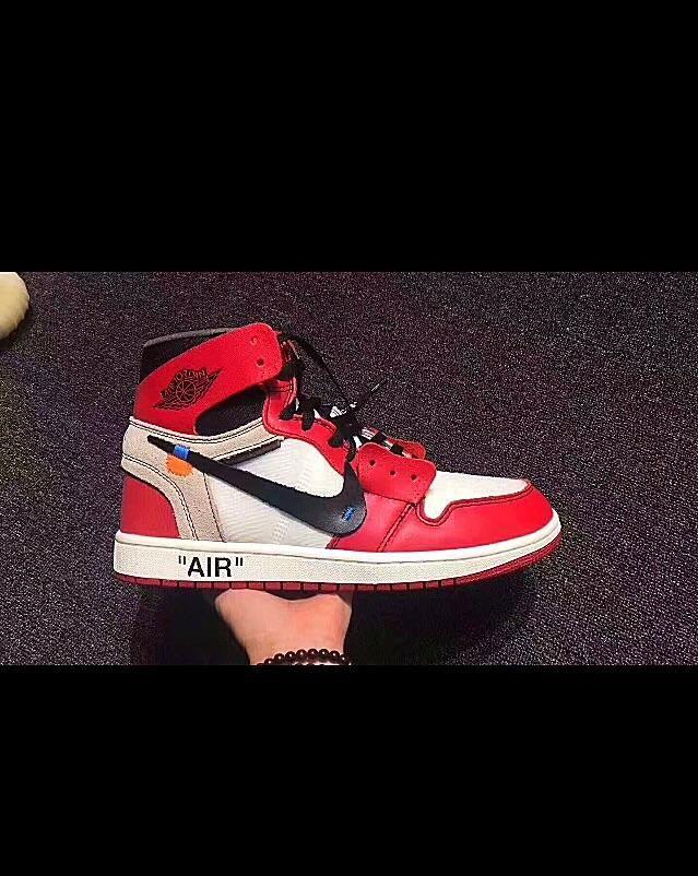 "e18a8fb480 Virgil Abloh Air Jordan1 X Off-White ""Chicago"" Sneakers – Celebrity  Inspiracion"