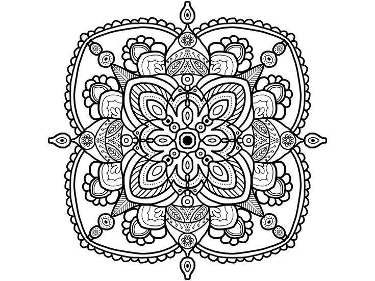 mandala coloring page adult coloring page easy mandala coloring page coloring fun - Art Therapy Coloring Pages Mandala