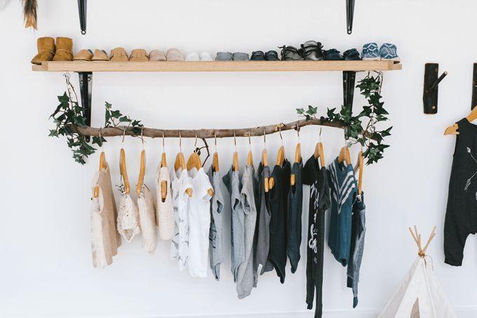 pendant vêtement DIY bois pour dressing mignon
