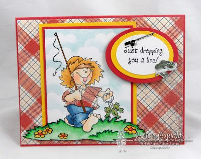 High Hopes Stamps: Dropping You a Line by Kristine using Casey's Catch (S273)