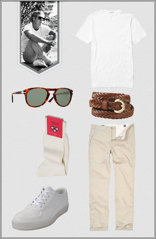 ICON LOOK // Steve McQueen – American basic #Fashion #Style