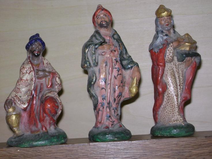 terracotta wise men painted in my workshop