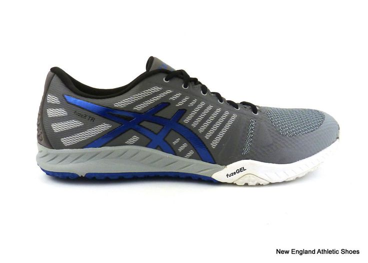 Asics men's fuzeX TR training shoes sneakers trainers Mid Grey Imperial  Carbon