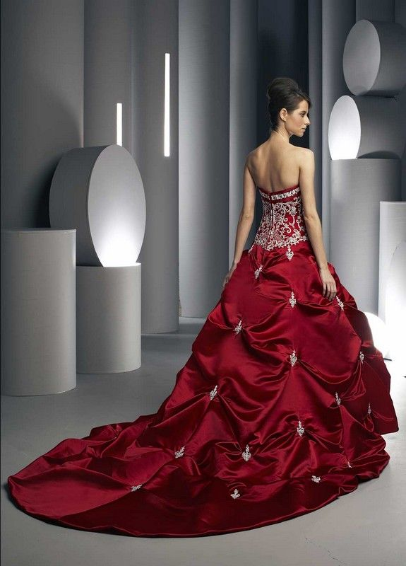 Da Vinci Red Wedding Dresses – fashion dresses