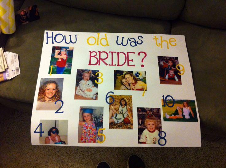 Bridal shower game. No one would ever be able to guess my age!