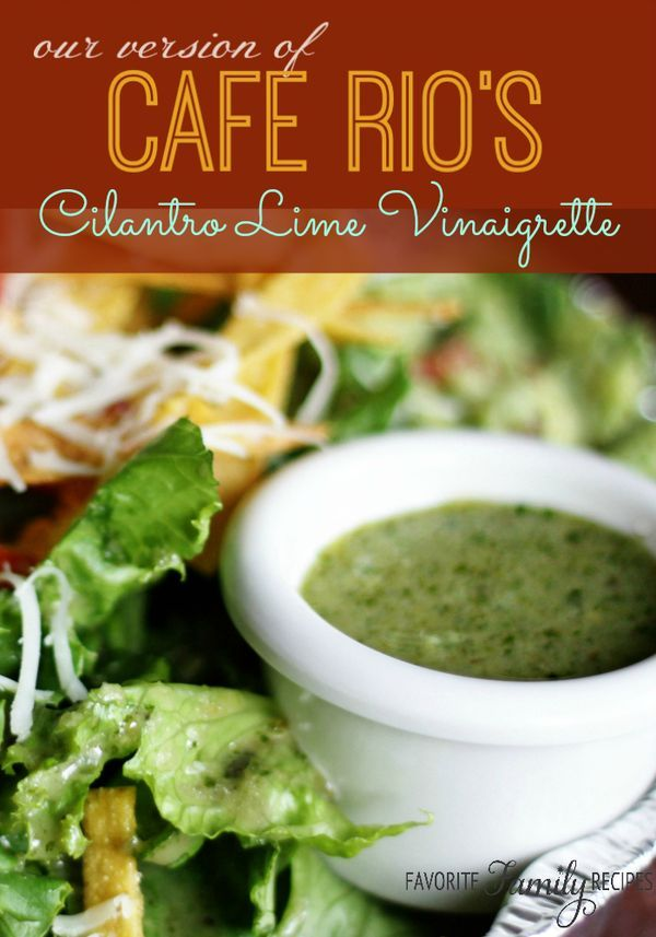 All of you Cafe Rio and Costa Vida lovers, get excited! This copycat recipe for the Cilantro-Lime Vinaigrette dressing is right on!