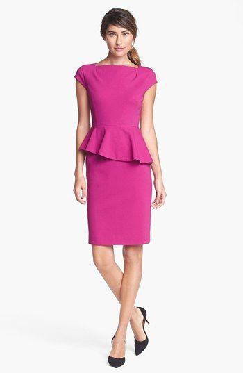 Classiques Entier® Italian Ponte Peplum Dress available at #Nordstrom #MillionDollarShoppersAndrea