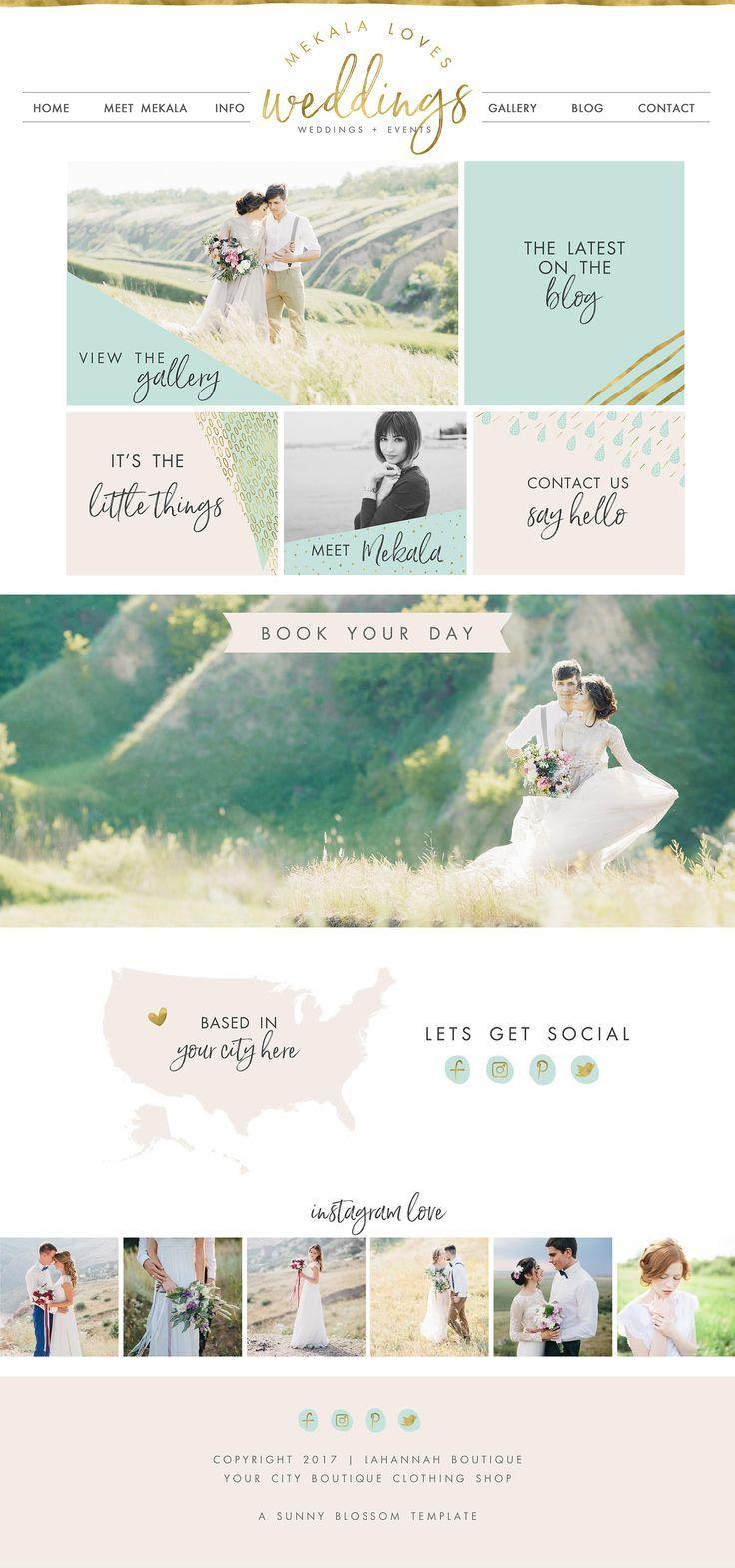 Wix Website design, website template, wedding planner website, event planner website template, logo design, photography website, 4906