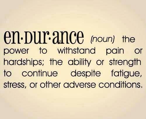 Endurance, with prayer..lot's of prayer..:)))