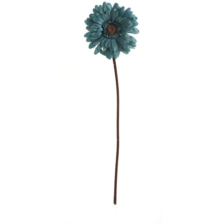 Wilko Gerbera Flower Teal Single