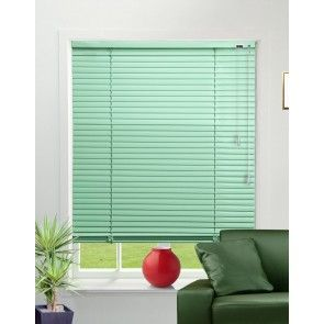 Pearlised Spring Green Venetian Blind