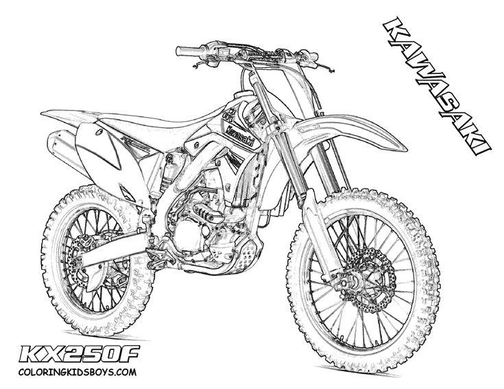 kawasaki dirt bike coloring pages
