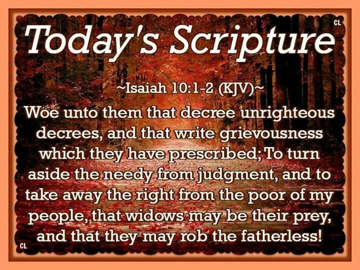 Isaiah 10:1-2 KJV