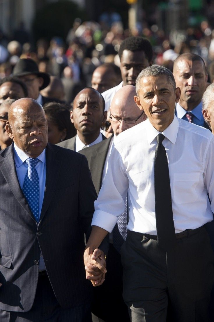 President Obama, First Family Lead The Way In March Across Edmund Pettus Bridge In Selma