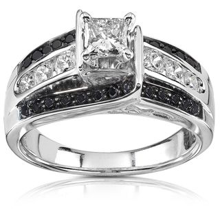 @Overstock.com - Annello  14k White Gold 1ct TDW Black and White Diamond Ring (H-I, I1-I2) - Princess-cut black and white diamond engagement ring14-karat white gold jewelry Click here for ring sizing guide  http://www.overstock.com/Jewelry-Watches/Annello-14k-White-Gold-1ct-TDW-Black-and-White-Diamond-Ring-H-I-I1-I2/6963162/product.html?CID=214117 $1,255.99