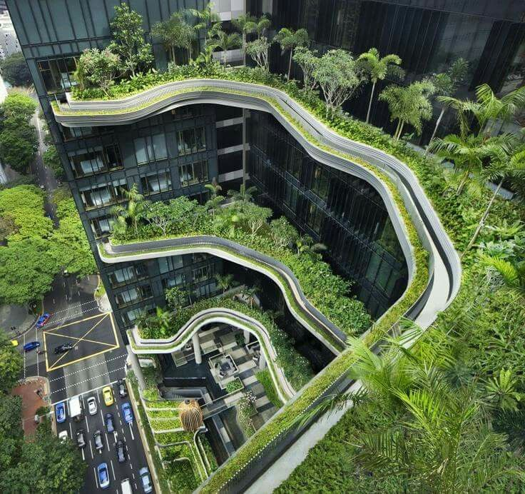 Designed By WOHA Architects Parkroyal On Pickering Hotel From Singapore Is A Successful Example How We Can Sustain Nature In Big City