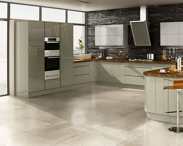 A Welford Grey High Gloss Kitchen Design Idea - http://www.diy-kitchens.com/kitchens/welford-grey/details/