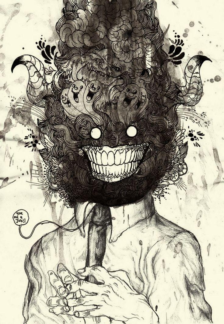 « Mind Blowing » une illustration de Iain MacArthur