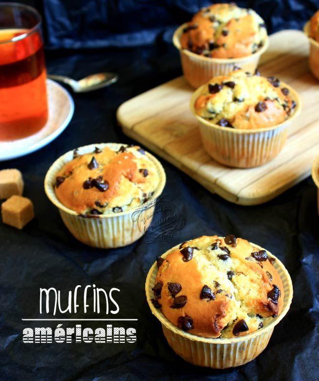 Muffins américains aux pépites de chocolat : Il était une fois la pâtisserie #muffins #chocolat