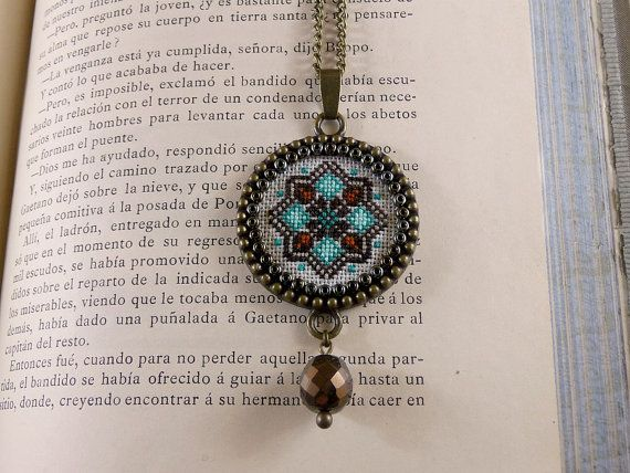 Cross stitch pendant Geometric cross stitch от TriccotraShop