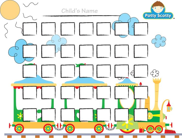 star chart for potty training