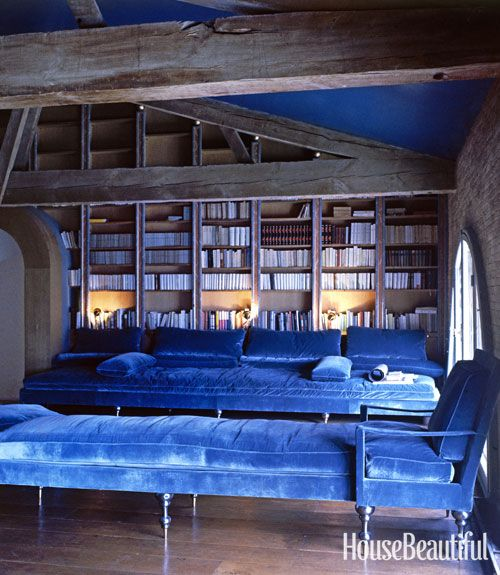 Pauline de Rothschild's library at Château Mouton Rothschild, Pauillac, France. OMG.