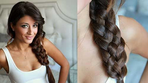 tressé cheveux bouclésLes dernières Coupes de cheveux Tresses   #hair #hairstyle #hairstyles Are you not in love with this hairstyle? Yessss would you like to visit my site then? #haircolour #haircolor #haircut #braid #longhair