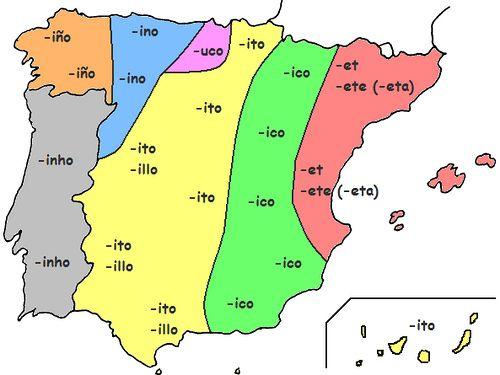 Geografía de los diminutivos