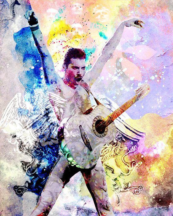 Freddie Mercury Painting, Queen Original Artwork Print