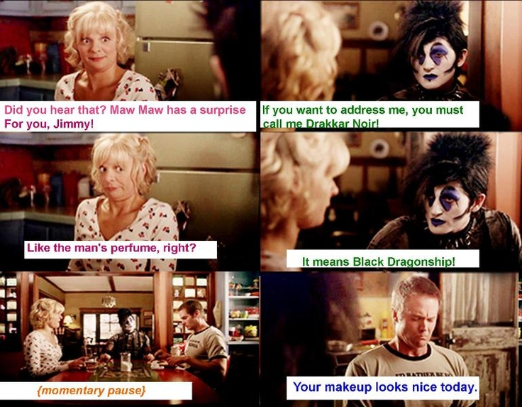 Drakaar Noir. Raising Hope episode 22..love it! Jimmy went through that phase but then snapped out of it