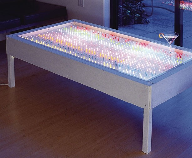 One of the coolest DIYs ever: full instructions for building a Lite-Brite Coffee Table