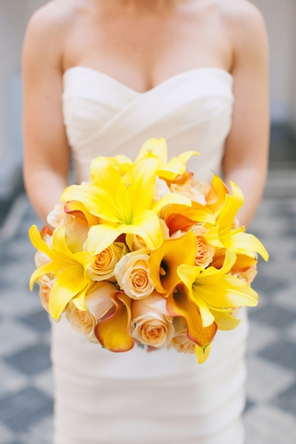 53 best Yellow Bridal Bouquets we Love images on Pinterest