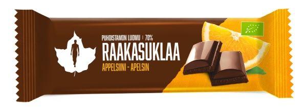 Raw Chocolate Orange | Raakasuklaa 70 %, appelsiini Puhdistamo