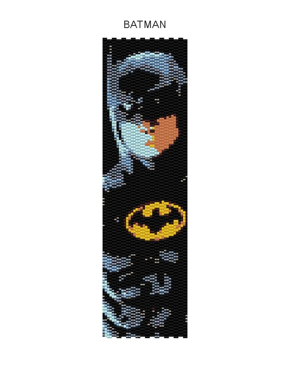 Batman Peyote Bracelet Pattern Buy 2 by JewelryPatternsPlus, $6,50