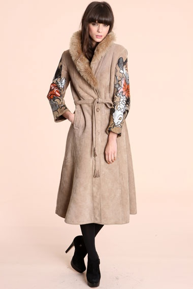 Katarina Kozic Geisha Hand Painted Sheepskin Coat