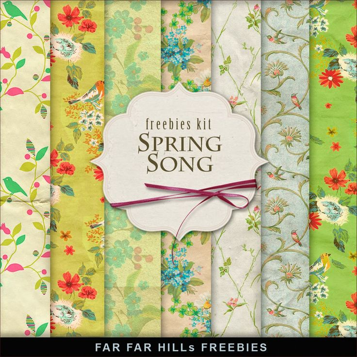 Far Far Hill: Freebies Backgrounds Kit - Spring Song