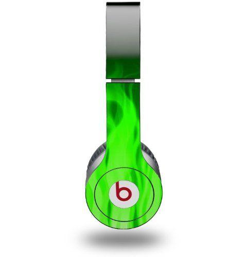 Amazon.com : WraptorSkinz Fire Skin for Beats Solo HD Headphones, Green : Neon Green Monster Beats Headphones : Electronics