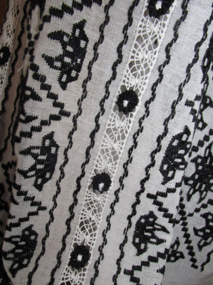 Hand embroidered Romanian blouse - handmade traditional shirt - Anna blouse - black M