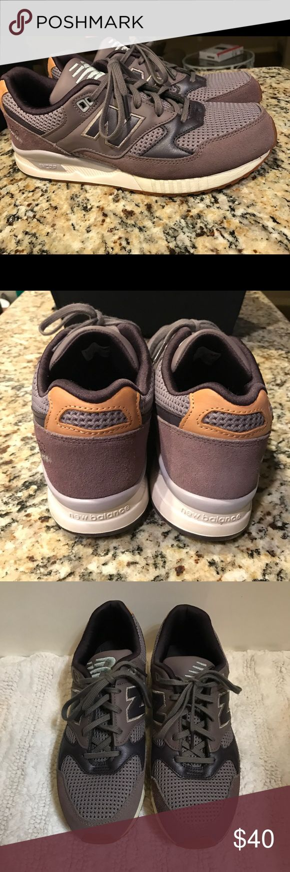 New Balance Women's size 11 Great condition and so cute! Only wore these once and sadly they did not fit right so that's why I'm getting rid of them! They are a greyish purple color and adorable!! New Balance Shoes Sneakers