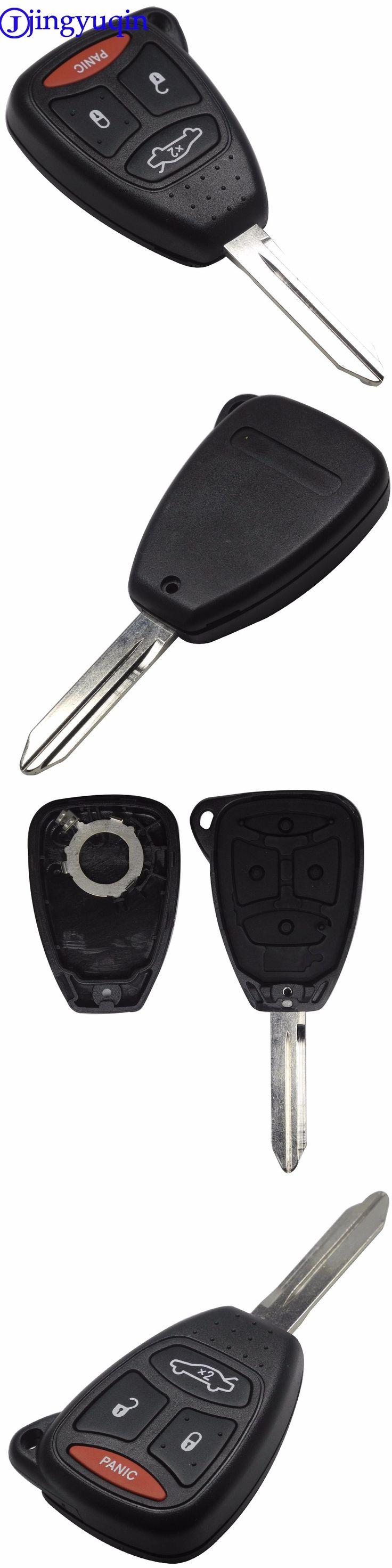 jingyuqin 4 Buttons Remote Car Key Shell Cover For Chrysler 300 Aspen For Dodge Dakota Durango For Jeep Grand Cherokee Commander