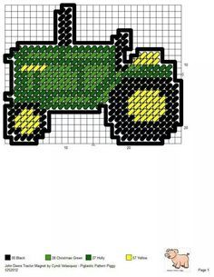 free john deere tractor cross stitch pattern - Google Search