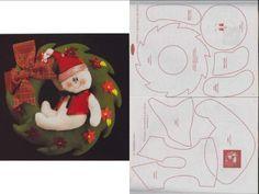 ***Ideas de Manualidades***: patrones navideños en fieltro