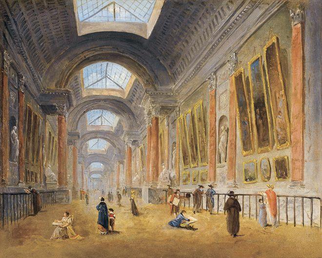 ユベール・ロベール 《ルーヴル宮グランド・ギャラリーの改修計画、1798年頃》 1798年頃 Photo (C) RMN-Grand Palais (musée du Louvre) / Stéphane Maréchalle / distributed by AMF - DNPartcom