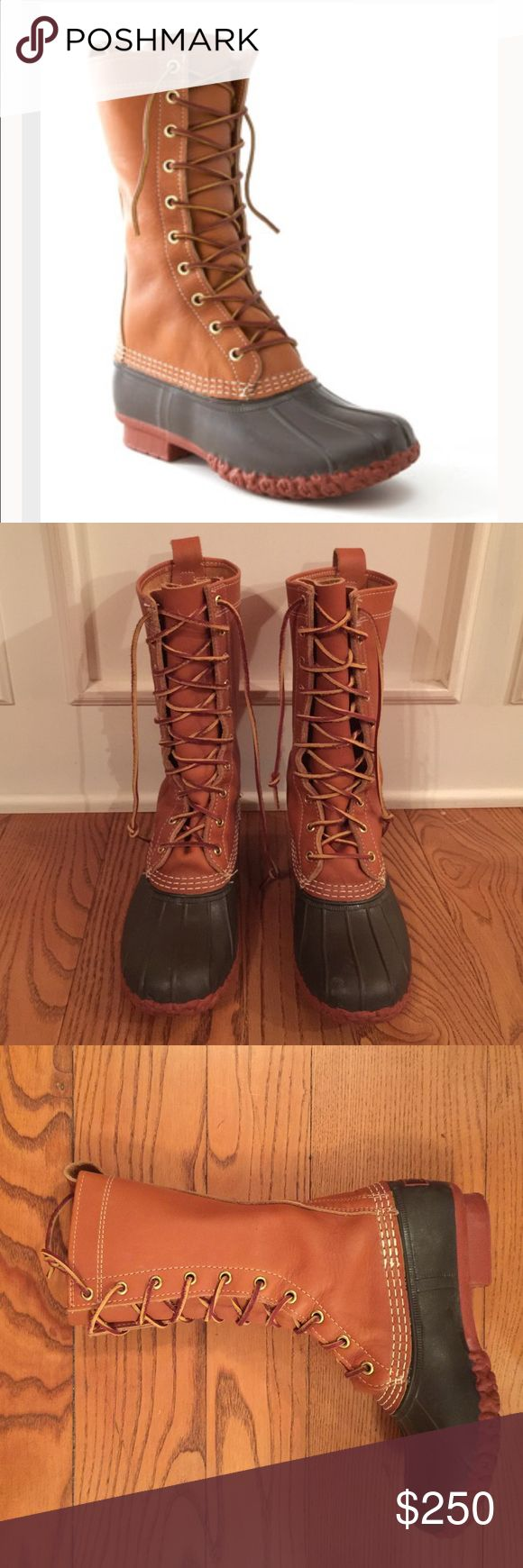 Selling this LL Bean 100th Anniversary Maine Hunting Boots RARE on Poshmark! My username is: camicargraham. #shopmycloset #poshmark #fashion #shopping #style #forsale #LL Bean #Shoes