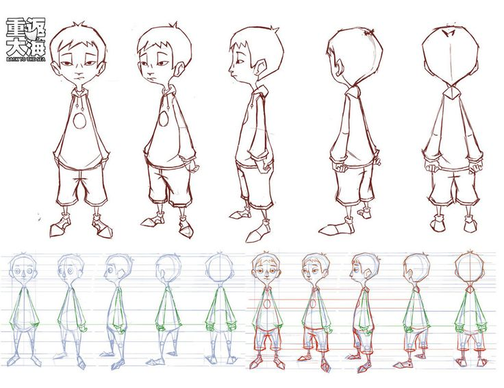 Character Design Body : Xiaobao turnaround by wardyworks on deviantart chars