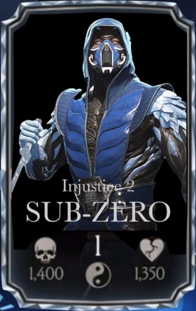 Sub Zero Injustice 2 Mortal Kombat Characters Sub Zero Mortal Kombat Mortal Kombat Xl