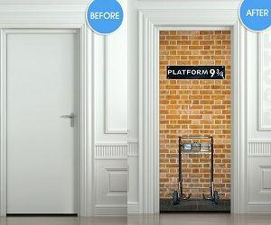 Harry Potter Door Sticker & 37 best Famous TV/Movie Doors images on Pinterest | Arquitetura ...